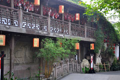 Ancient Jinli Street, Chengdu Royalty Free Stock Image