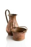 Ancient jug and bowl Royalty Free Stock Photo