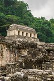 Ancient Jungle Stone House. Ancient Structures in the middle of the jungle, Palenque mexico Royalty Free Stock Photos