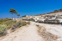 Ancient Kamiros Rhodes Stock Photography