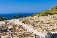 Ancient Kamiros Rhodes Royalty Free Stock Photography
