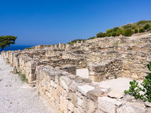 Ancient Kamiros Rhodes Stock Photo