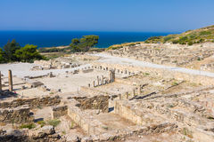 Ancient Kamiros Rhodes Royalty Free Stock Images