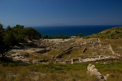 Ancient Kamiros Rhodos Greece architecture historic royalty free stock photography