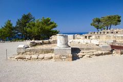 Ancient Kamiros Rhodos Greece architecture historic. Ancient Kamiros Rhodos Greece historic buildings royalty free stock image