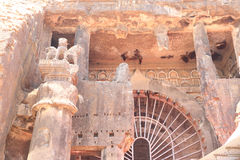 Ancient karla caves and drawings in india Stock Images