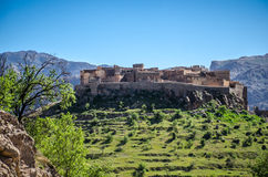 Ancient Kasbah in the south Morocco Stock Photos