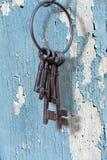 Ancient key ring, grunge Royalty Free Stock Photo