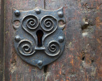 Ancient keyhole. Royalty Free Stock Images