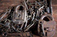 Ancient keys Royalty Free Stock Photo
