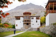Ancient Khaplu palace in autumn. Ghanche Gilgit Baltistan. Pakistan. stock photo