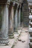 Ancient Khmer carving of Krishna, Angkor Stock Photos