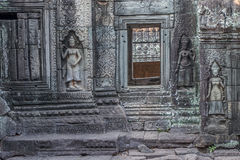 Ancient Khmer carving of Krishna, Angkor Stock Images