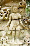 Ancient Khmer Hindu God Sculpture Royalty Free Stock Photography