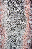 Ancient Khmer parrot carving Stock Photography