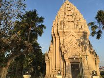 Ancient Khmer Style Pagoda in Buriram, Thailand. An official landmark contemporary architecture built in ancient Khmer artistic style stock image