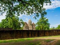 An ancient Khmer Style Prang at Wat Sri Sawai Stock Photos