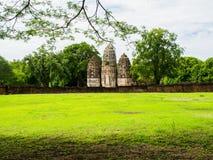 An ancient Khmer Style Prang at Wat Sri Sawai Royalty Free Stock Image
