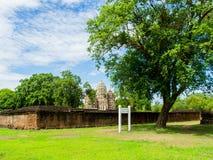 An ancient Khmer Style Prang at Wat Sri Sawai Stock Image
