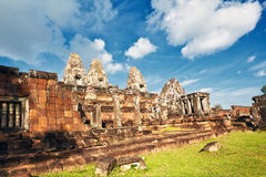 Ancient khmer temple in Angkor Wat complex Royalty Free Stock Photo