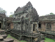 Ancient Khmer temple in Angkor Wat Royalty Free Stock Photo