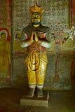 Ancient king image in Dambulla Rock stock photo