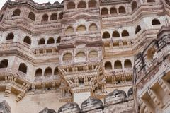 King`s Palace at Jodhpur Fort in Rajasthan Stock Images