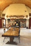 The Ancient Kitchen at Chateau de Pommard winery. Royalty Free Stock Photos