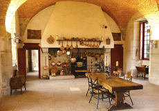 The Ancient Kitchen at Chateau de Pommard winery. Royalty Free Stock Images