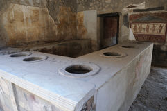 Ancient kitchen in Pompeii Royalty Free Stock Photography