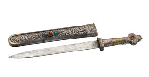 Ancient knife and scabbard Stock Image