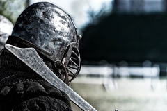 Ancient knight. Stock photo of ancient knight with sword Stock Photo