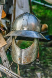 Ancient Knights Helmet Stock Photography