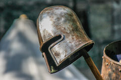 Ancient Knights Helmet Royalty Free Stock Photography
