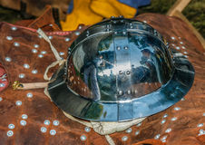 Ancient Knights Helmet. An ancient knights helmet from middle age Royalty Free Stock Photo