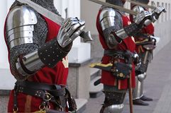 Ancient knights standing Stock Photography