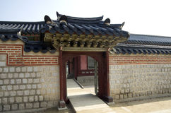 Ancient Korean architecture Royalty Free Stock Images