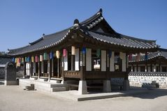 Ancient Korean House Royalty Free Stock Photos