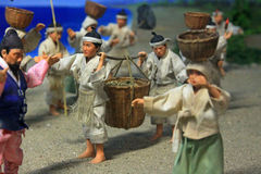 Ancient Korean Traditional Life. Display in Busan Museum Stock Images