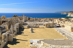 ANCIENT KOURION, CYPRUS: Archeological site near Pafos Stock Image