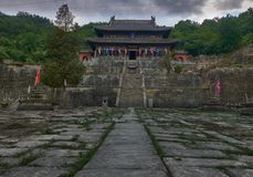 Ancient kungfu Temple in Wudangshan mountain China stock photography