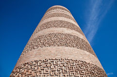 Ancient Kyrgyz Burana tower Royalty Free Stock Images