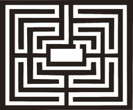 Ancient labyrinth illustration Royalty Free Stock Photo