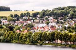 Ancient Lake European Village Stock Image