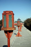 Ancient lamp. At Temple of Heaven, Beijing, China Stock Image
