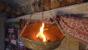 Ancient Lamp in the House stock video footage