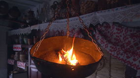 Ancient Lamp in the House stock footage