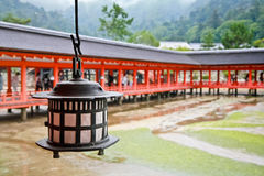 Ancient lamp at Itsukusima shrine Royalty Free Stock Photography