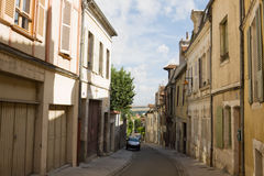 An ancient lane in Auxerre city in France Stock Photos