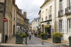 An ancient lane in the historical center of Autun Royalty Free Stock Images
